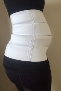 3 panel abdominal splint for diastasis recti