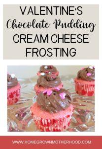 Valentine Chocolate Pudding Cream Cheese Frosting