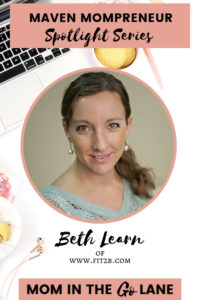 How This Mom Started An Online Fitness Business At Home | Beth Learn of Fit2B.com | Maven Mompreneur Spotlight Series