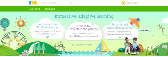 IXL Home Page Adaptive Learning, Personalized Learning, Math, Language Arts #hsreviews #ixl #iloveixl