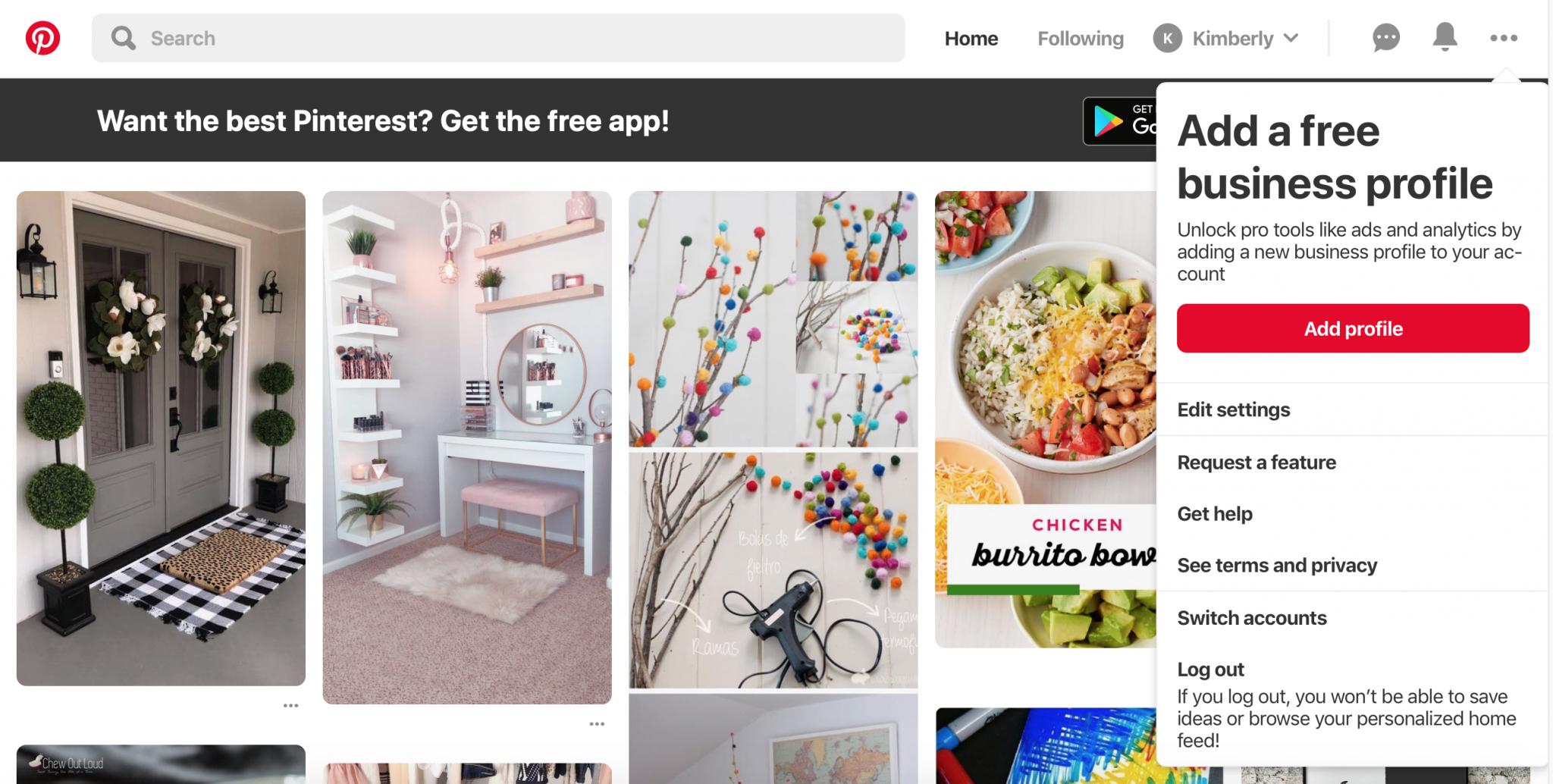 Convert Pinterest To Business Profile