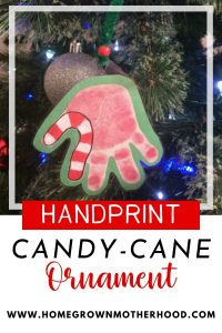 Handprint Candy Cane Ornament