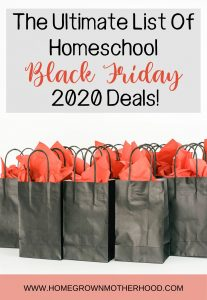 The Ultimate List of Homeschool Black Friday 2020 Deals