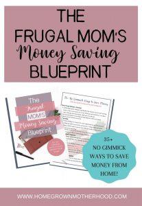 The Frugal Mom's Money Saving Blueprint