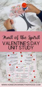Fruit of the Spirit Valentine's Day Unit Study