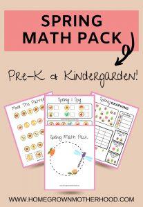 Spring Math Pack Pin